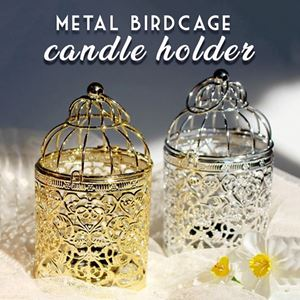 METAL BIRDCAGE CANDLE HOLDER