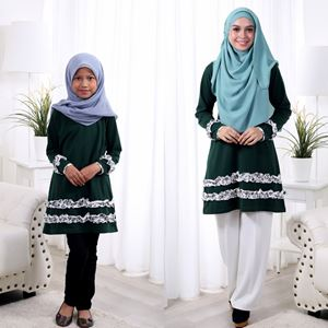 Baby Ruffle Sedondon Blouse Shirt (Dark Green)