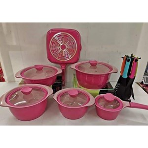 18PCS DESSINI PINK COOKWARE