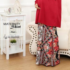 Adelia Skirt Printed : Red