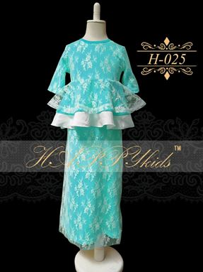 HAPPYkids Exclusive Lace Peplum H-025 ( GREEN )