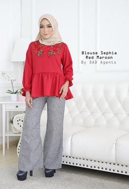 Blouse Sephia Red Maroon