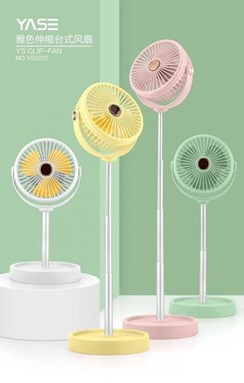 LED light adjustable fan rechargeable