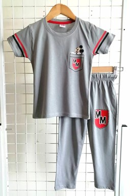Pyjamas PLAIN MICKEY MM Grey - Short Sleeve 1/2y