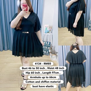 4134 * Ready Stock * Bust 46 to 50inch /117 - 127cm