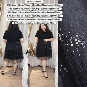 NCN51 *Ready Stock *Bust 42 to 57 inch/ 106-146cm