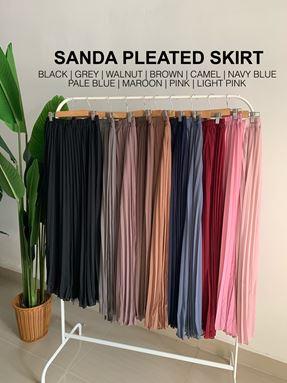 Sanda pleated skirt
