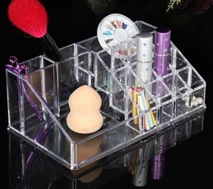12 Lipstick Holders and 4 Additional Storage Sections
