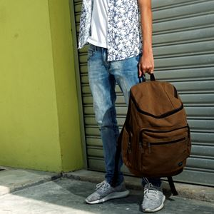 Exclusive Courthouse Backpack (Brown)
