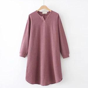 Long Knit Top (Dusty Purple)
