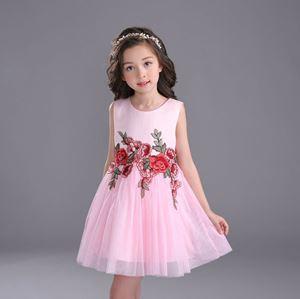 PINK ROSE DRESS ( SZ100-150 )
