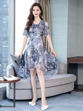 Floral Slim Chiffon Fairy Dress