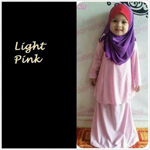 Kids Kurung Arrini (Light Pink )- XL, 2XL sahaja