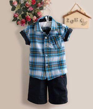 Boy Set - DARK BLUE TOP + PANT