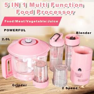 5 IN 1 blender Multi Function Food Processor/ Mesin Pemproses Makanan Pelbagai fungsi