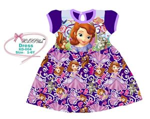 @  KD-004  HAPPYKIDS DRESS - PURPLE SOFIA ( SZ 1-6Y )