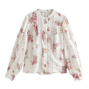 FLORAL PRINTS ENGLISH WHITE TOP