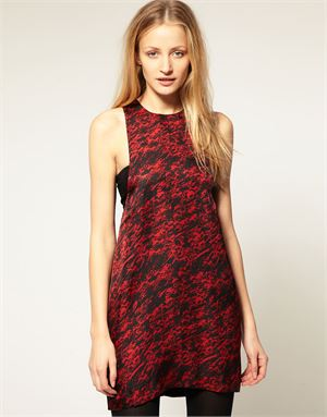 American Retro Felicity Mini Dress With Abstract Print