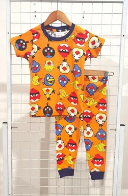 SIZE 14  BIG KIDS Pyjamas ANGRY BIRD MUSTARD (HELAL)