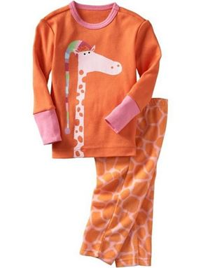 Babygap Pyjamas - Orange Giraffe