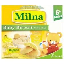 Milna Banana Baby Biscuit 6+ Months 130g