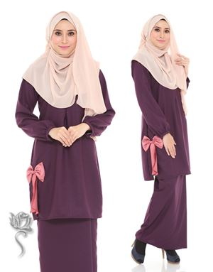 KURUNG MODEN ALYA - DARK PURPLE