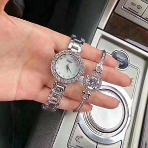 DIOR08 A02 DIOR Elegant Watch Set (Watch + Bangle )