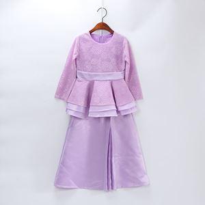 Coolelves Baju Kurung PURPLE Lace Peplum (1-6y)