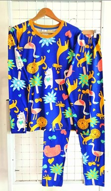 SIZE 3XL DEWASA Pyjamas SAFARI BLUE (HF)