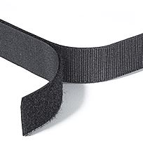 Velcro with double sided Tape - Black
