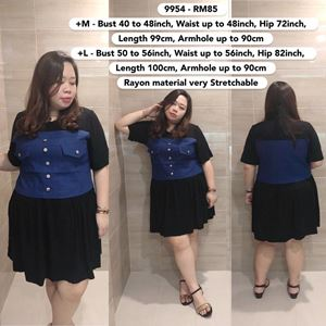 9954 Ready Stock *Bust 40 to 56 inch/ 101-142cm
