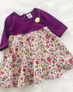 SALE - Aisya Dress ( Purple with Small Red Roses)