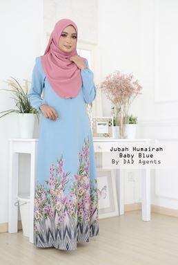 Jubah Humairah Baby Blue