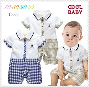 @   15063 BOY ROMPER -   ( BLUE / GREY )