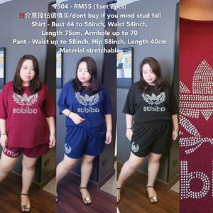 9504 Ready Stock *Bust 44 to 56 inch/ 111-142cm