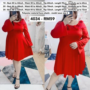 4034`*Ready Stock* Bust 40 to 52 inch / 102 - 132cm