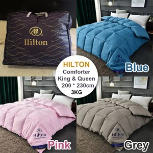 Hilton Premium Hotel Quality Microfiber Comforter / Quilt Queen King Dropship 3KG with bag (free bag)