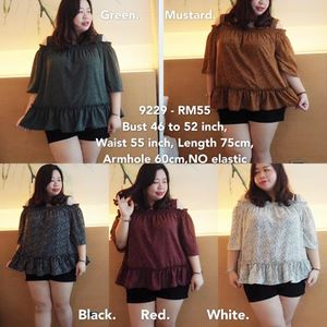 9229 Ready Stock *Bust 46 to 52 inch/ 117-132cm