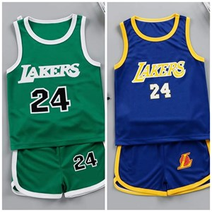 KIDS SUMMER EXERCISE SET - LAKERS 24   ( SIZE 90-160 )