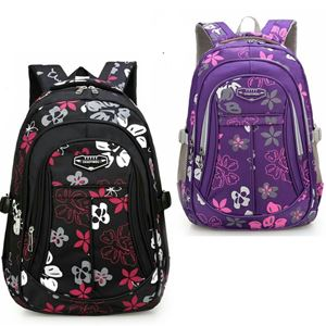 BIG SIZE NEW FASHION FLOWER PATTERN SCHOOL BAG