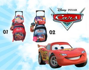 CARS 3IN1 TROLLEY BACKPACK SET