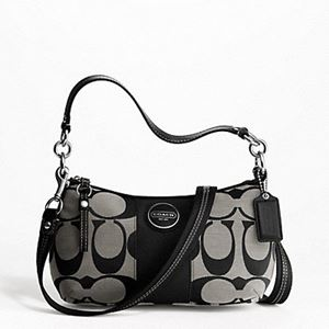 Coach Signature Stripe Demi Crossbody Handbag F17439