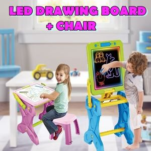 LED DRAWING BOARD + CHAIR