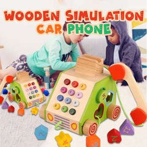 WOODEN SIMULATION CAR PHONE TOYS