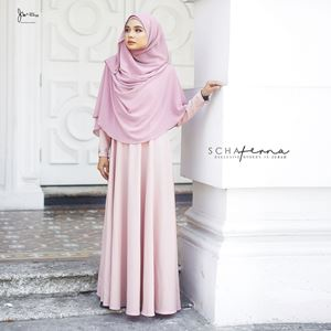SCHAFERNA EXCLUSIVE MODERN IN JUBAH (SOFT PINK)