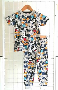 Pyjamas MICKEY GREY :  Big Size 12-16 (MYSHA)