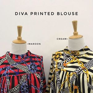 DIVA PRINTED BLOUSE