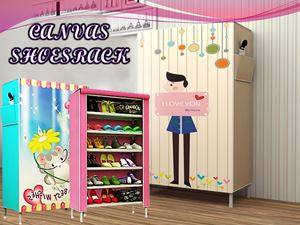 CANVAS SHOESRACK N01002