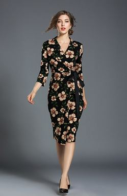 Temperament Slim Print Dress