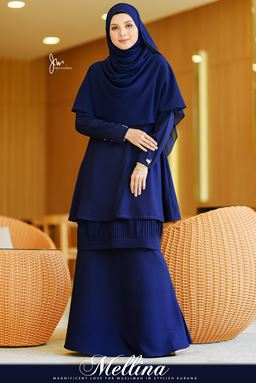 ~TS~ MELLINA STYLISH KURUNG 💕 (Midnight Blue)